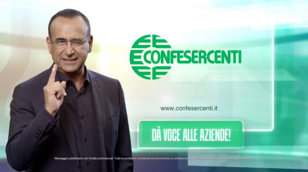 """""""Confesercenti dà voce alle aziende"""", la campagna pubblicitaria 2019, testimonial è Carlo Conti"""