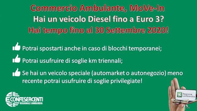 Confesercenti Lombardia: Convenzione speciale MoVe-In Ambulanti ANVA