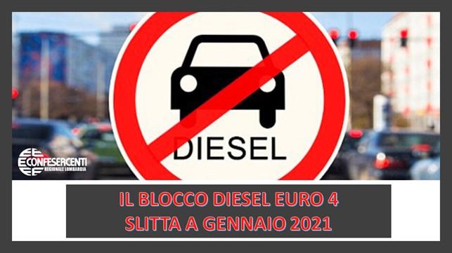 Confesercenti Lombardia: blocchi del traffico, slitta il fermo per gli Euro 4 diesel