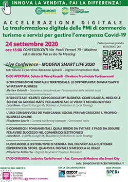 """Confesercenti Modena per le PMI, """"Smart Life"""": un nuovo contributo sull'impresa digitale nel 2020"""