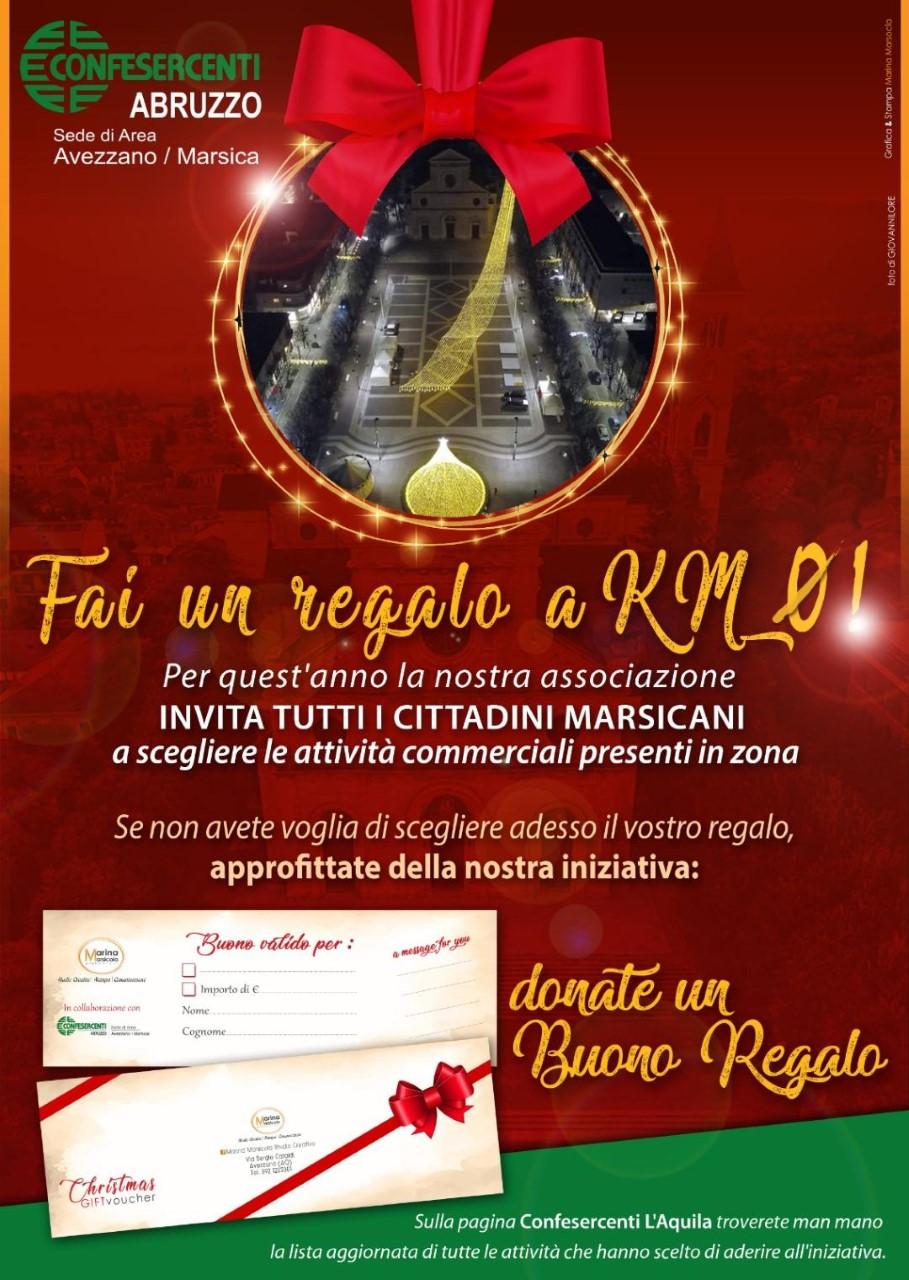 """""""Fai un regalo a Km zero"""": l'iniziativa della Confesercenti Abruzzo area Avezzano Marsica"""