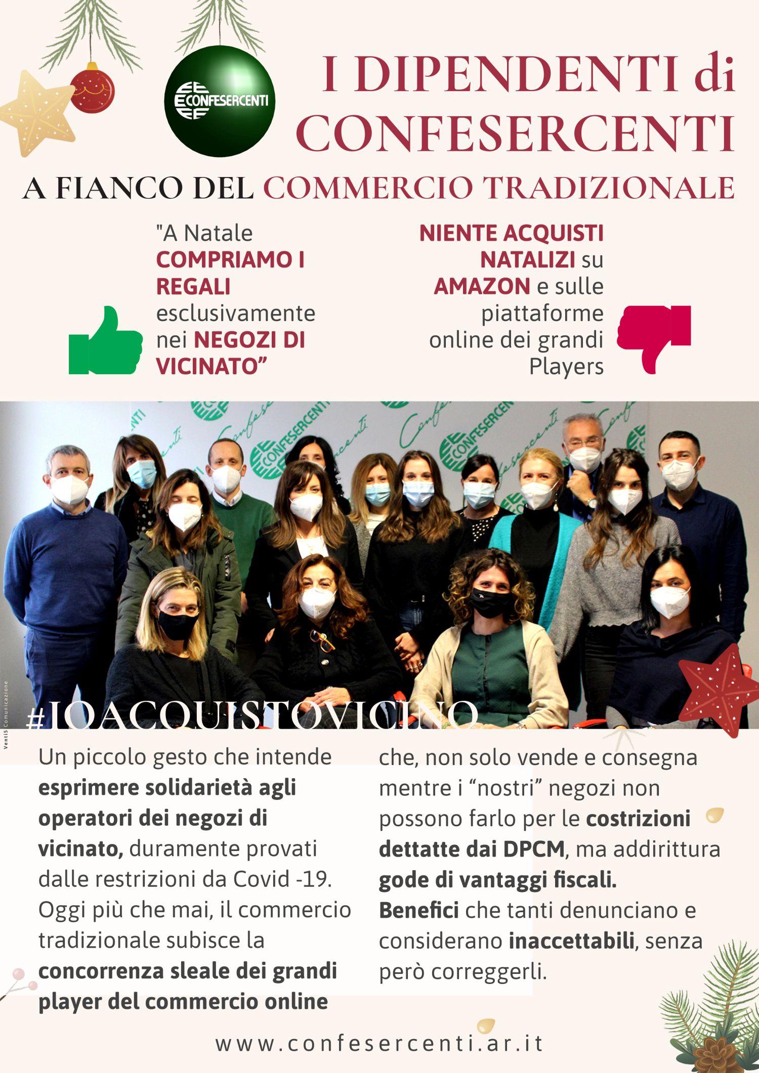 Confesercenti Arezzo: i dipendenti acquistano i regali natalizi solo nei negozi