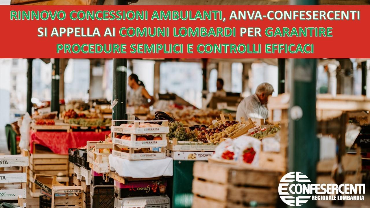 Confesercenti Lombardia: Anva su rinnovo concessioni ambulanti si appella ai Comuni per garantire procedure semplici e controlli efficaci