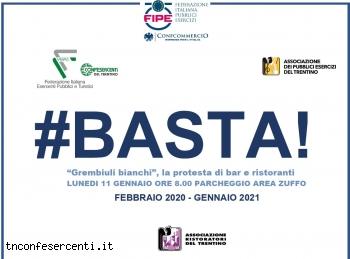 """Confesercenti Trentino e Confcommercio, """"Grembiuli bianchi"""": la protesta di bar e ristoranti"""