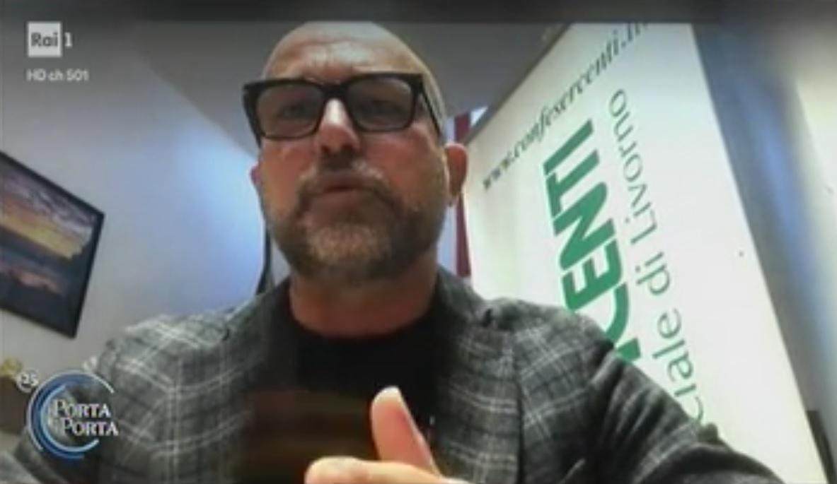 Fismo Confesercenti: il presidente Fabio Tinti a Porta a porta