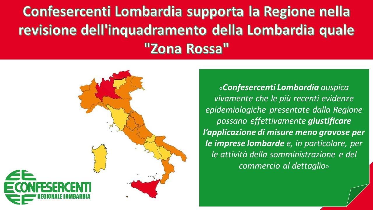 """Confesercenti Lombardia supporta la Regione nella revisione dell'inquadramento della Lombardia quale """"Zona Rossa"""""""