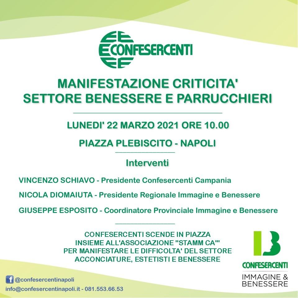"""confesercenti-campania-scende-in-piazza-per-manifestare:-settore-""""benessere-e-parrucchieri""""-in-ginocchio"""