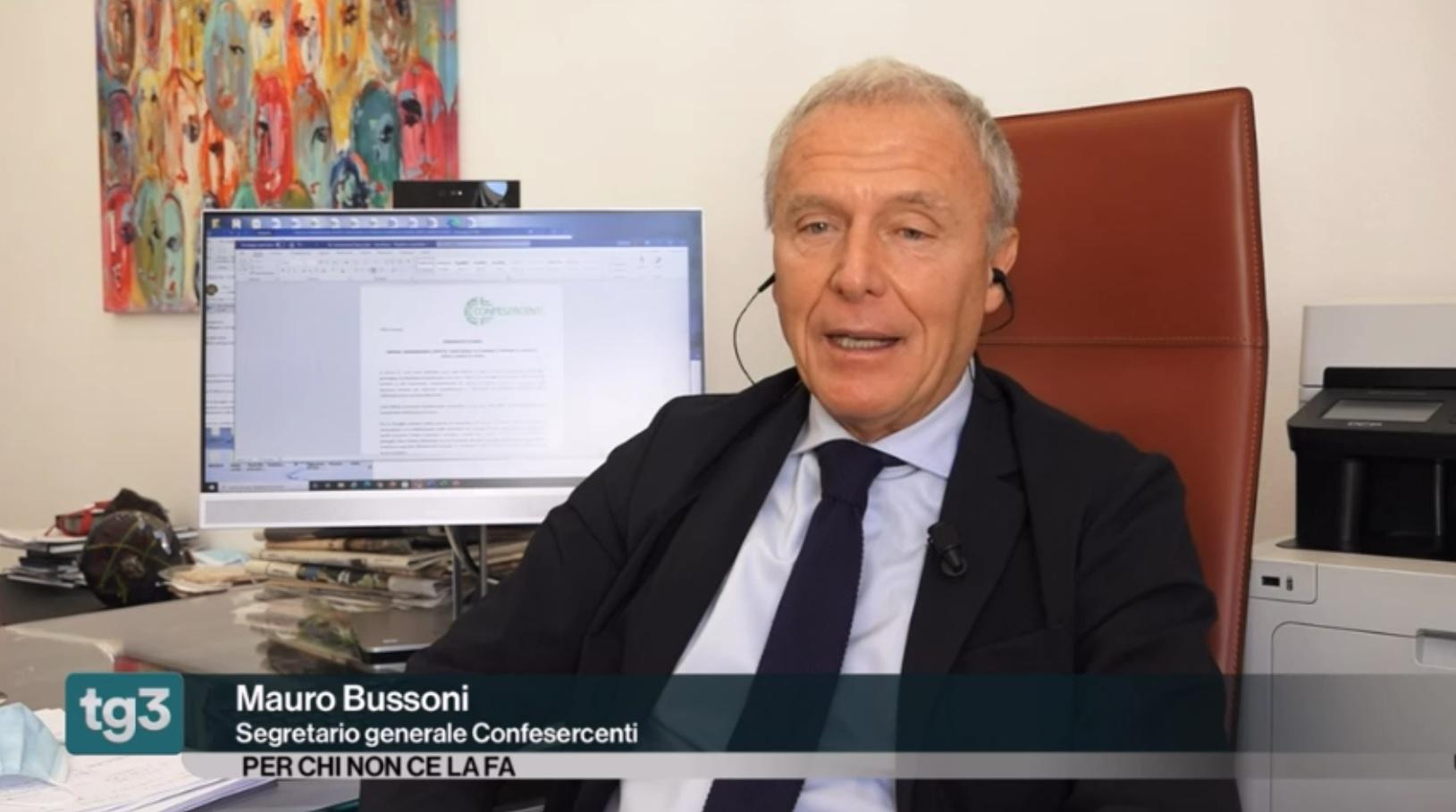 Crisi e imprese, Mauro Bussoni ospite di Tg3 FuoriTg