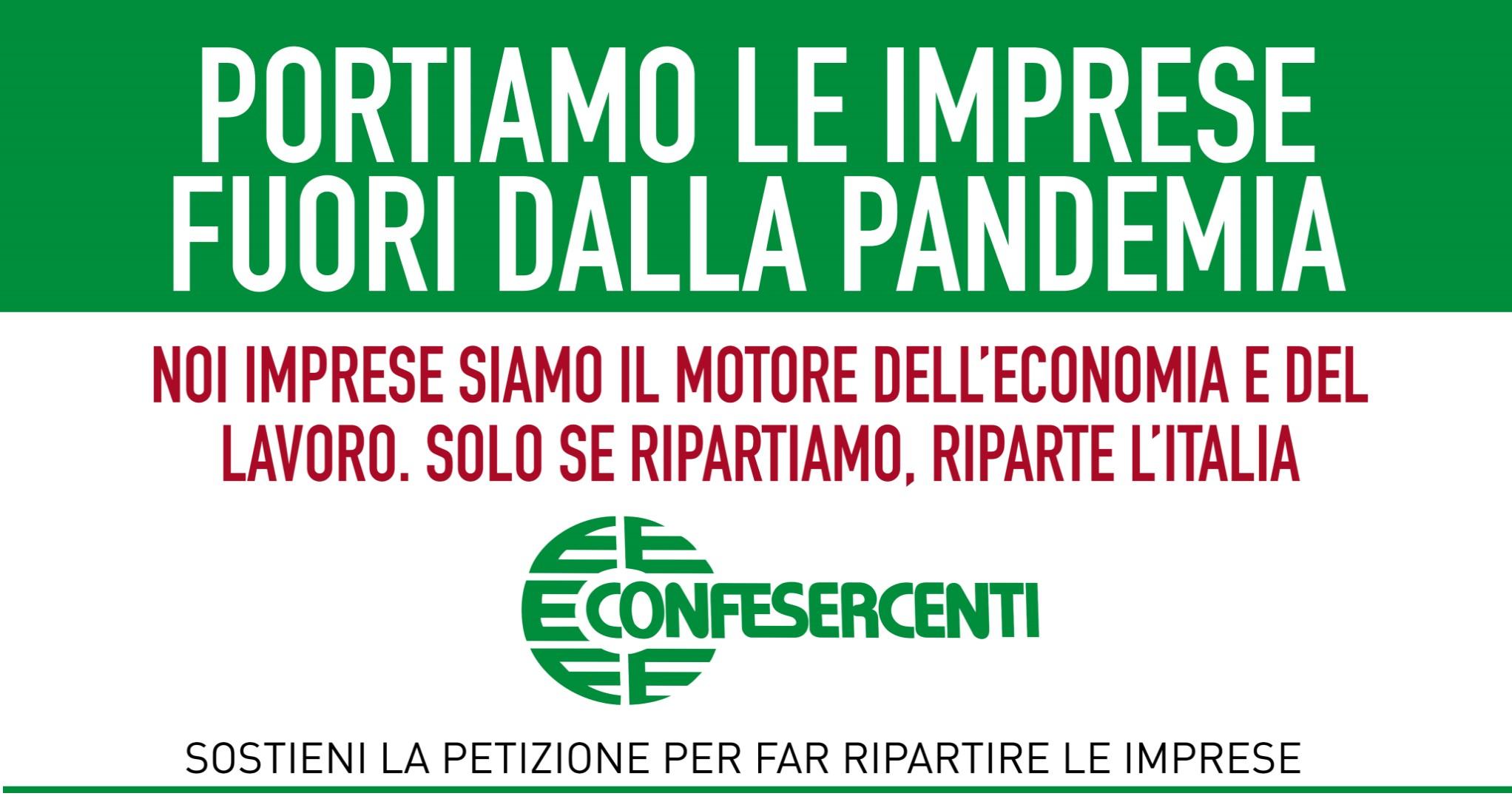 """""""Portiamo le imprese fuori dalla pandemia"""": mercoledì 7 aprile la manifestazione di mobilitazione nazionale di Confesercenti"""