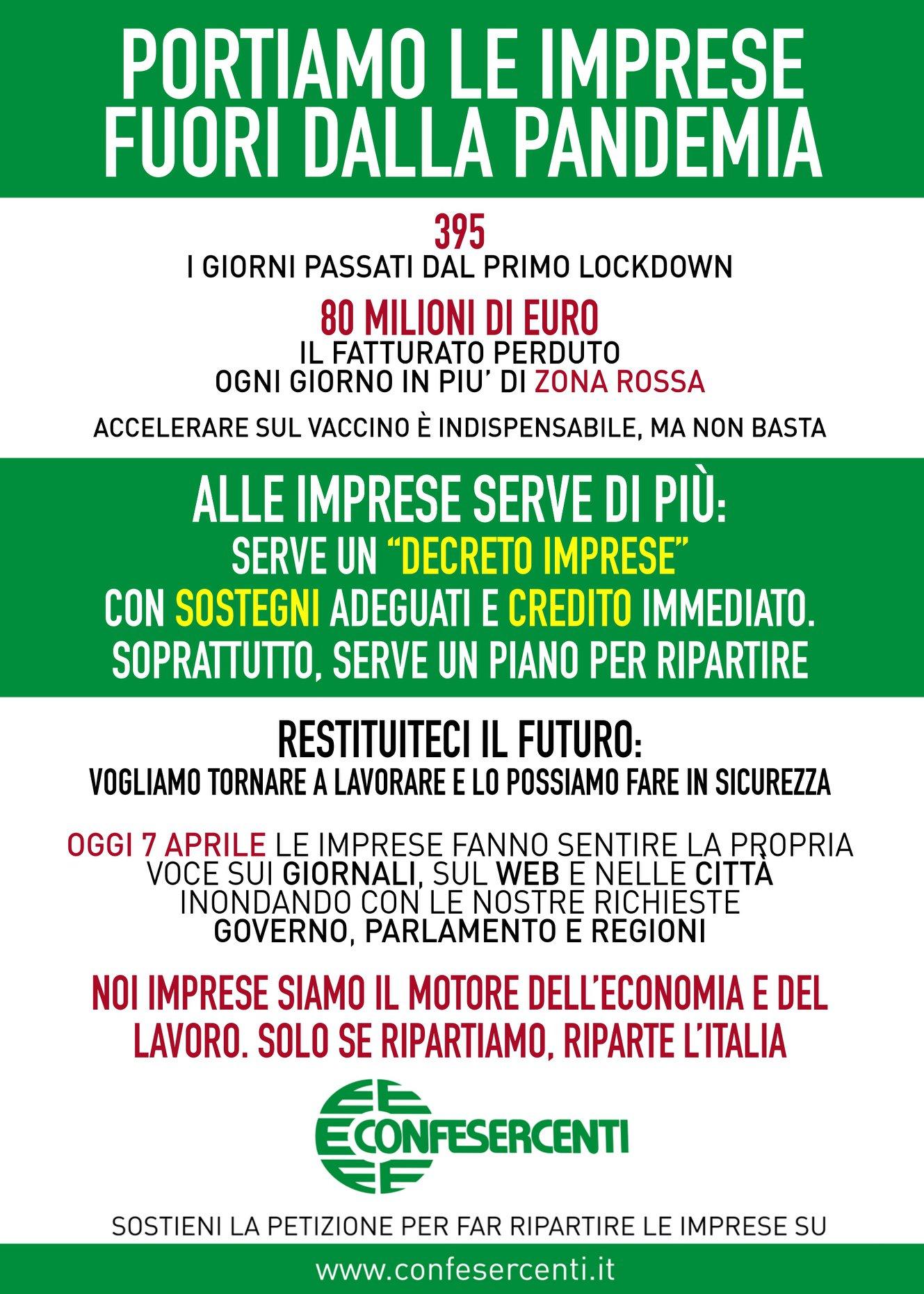 """Confesercenti Sicilia """"Portiamo le imprese fuori dalla pandemia"""", le parole d'ordine: sostegni, fiscalità, credito alle imprese, riaperture"""