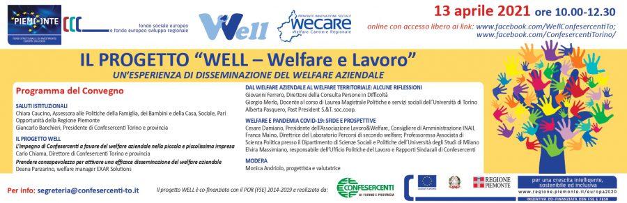 """Confesercenti Torino organizza il convegno """"Well – Welfare e lavoro, un'esperienza di disseminazione del welfare aziendale"""""""