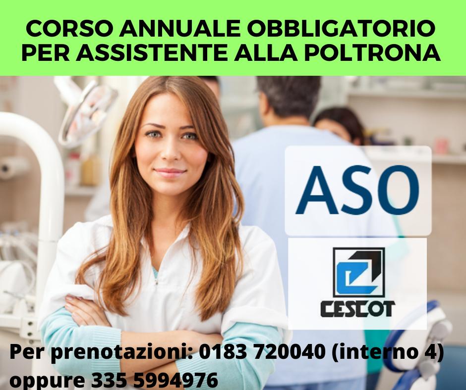Ce.s.co.t. Liguria: corso obbligatorio di aggiornamento per assistenti alla poltrona