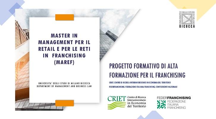 Federfranchising e Bicocca: Master in Management per il Retail e per le reti in Franchising (MAREF)