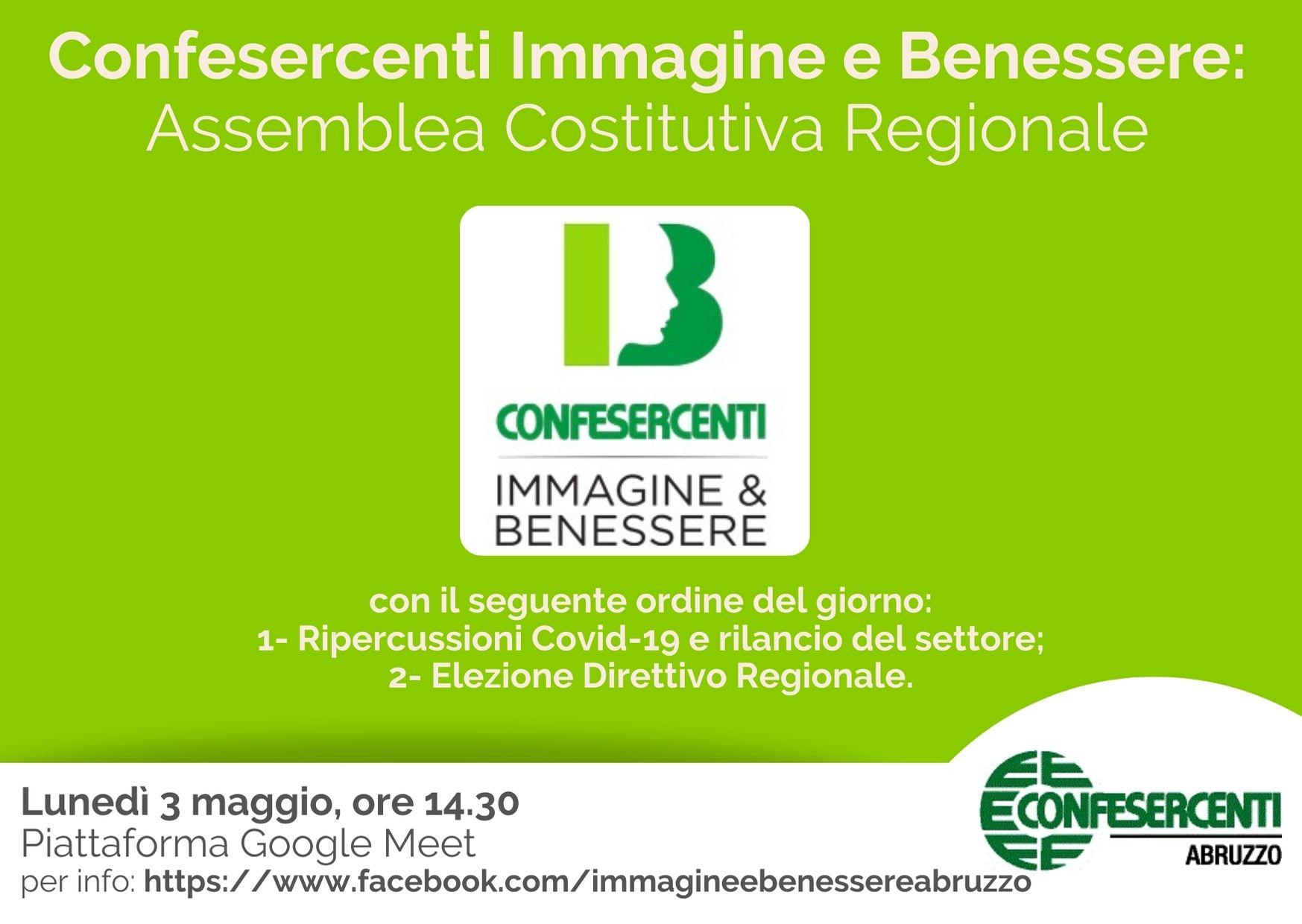 Confesercenti Abruzzo, Immagine e Benessere: Assemblea Costitutiva Regionale