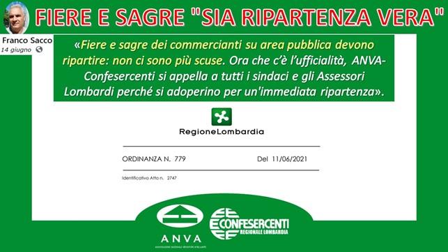 """Anva Confesercenti Lombardia, Fiere e sagre ambulanti: """"Ci appelliamo ai sindaci"""""""