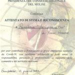 """Fiesa Confesercenti Abruzzo: Mario Porrone, maestro panificatore di Agnone, insignito del titolo di """"Ambasciatore del Molise nel mondo"""""""