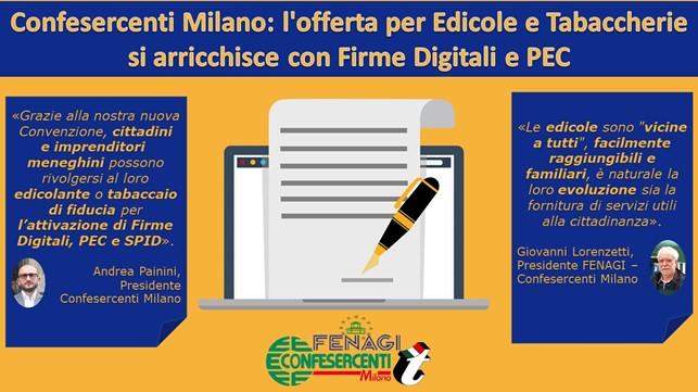 Confesercenti Milano: l'offerta per Edicole e Tabaccherie si arricchisce con Firme Digitali e PEC
