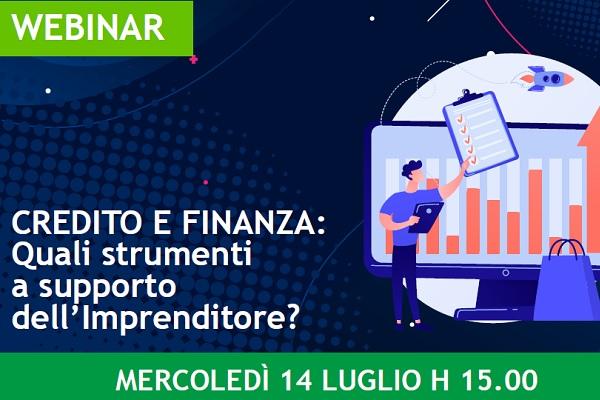 """Giovani Imprenditori: Webinar """"Credito e Finanza: Quali Strumenti a supporto dell'Imprenditore?"""""""