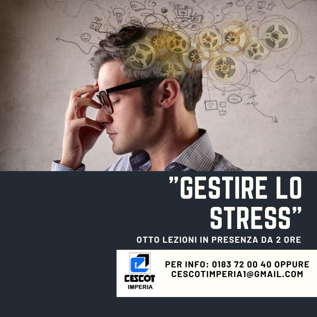 Cescot Confesercenti Imperia propone un nuovo corso di otto incontri in presenza per imparare a gestire lo stress