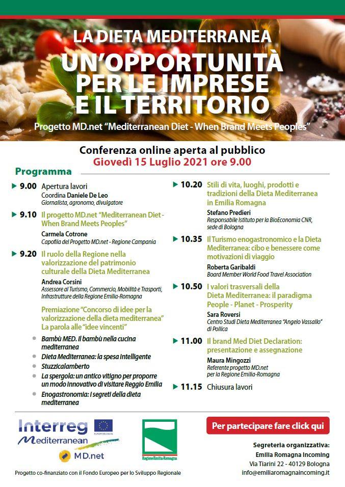 """Confesercenti E.R., convegno online aperto al pubblico: """"La dieta mediterranea, un'opportunità per le imprese e il territorio"""""""