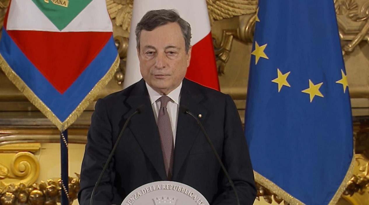 Governo: conferenza stampa Draghi al termine del Consiglio dei ministri