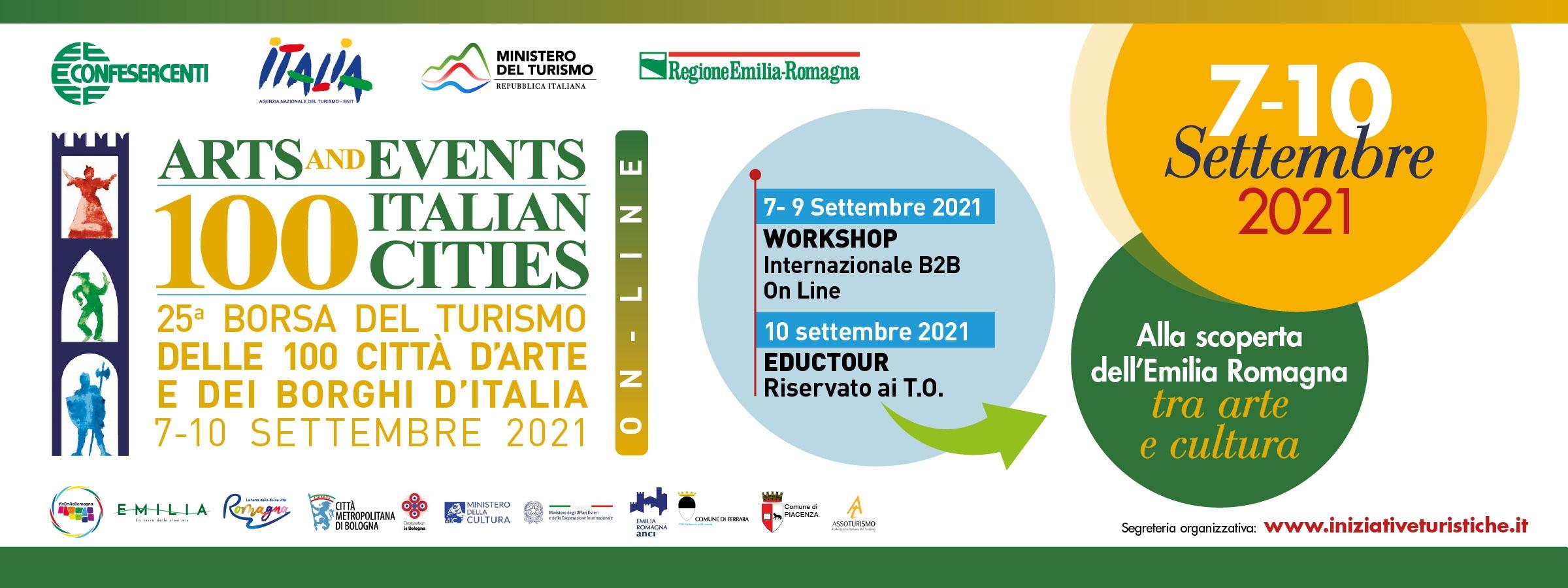 Confesercenti E.R: al via la 25ª Borsa del Turismo delle 100 Città d'Arte e dei Borghi d'Italia