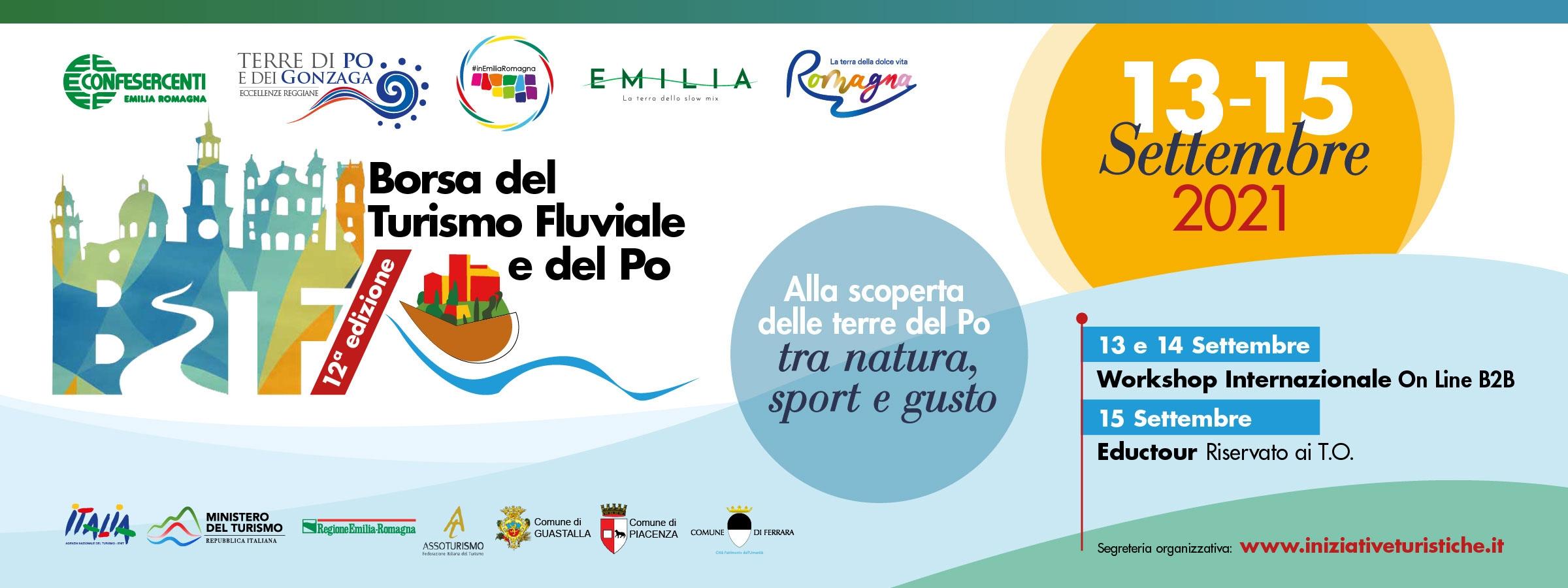 Emilia Romagna: dal 13 al 15 settembre 12ª Borsa del Turismo Fluviale e del Po
